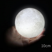 Indexp 3D USB Charged Moon Lamp Magical Alternately Colour Table Desk Moon Lamp Gift