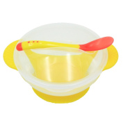 OUNONA Baby Stackable Suction Bowl sucker bowl set with Cover and Snap-in Spoon