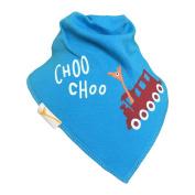 Funky Giraffe Blue Choo Choo Train Bandana Bib