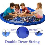 Bomien Toy Storage Bag,Children Play Mat Foldable baby Toy Storage Bag Kids Rug Child Toy Organiser,Storage Drawstring Bag Play Mat 150cm
