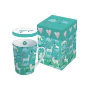 PPD Tasse avec couvercle (0,25l.) de porcelaine, dans boîte cadeau. Design