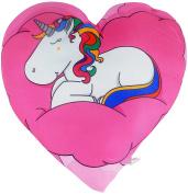 Unicorn Cushion Heart pink 30 x 30 cm Pillow Children Phantasy Love