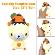 TAOtTAO 13cm Squishy Poo Pumpkin Bear Relieve Anxiet Squeeze Slow Rising Fun Toy Gift