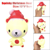 TAOtTAO 13cm Squishy Poo Christmas Bear Relieve Anxiet Squeeze Slow Rising Fun Toy Gift