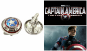 Superheroes Marvel Comics Avengers Captain America Shield Logo Cufflinks