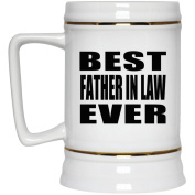 Best Father In Law Ever - Beer Stein, Ceramic Beer Mug, Best Gift for Birthday, Christmas, Thanksgiving, New Year, Anniversary