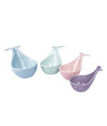 Fecihor Ceramic Measuring Cups Baking Bowls,Whale Shaped Measuring Cup Set with Handles, Multicolor - 4 PCS