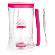 Totally Addict kp51151 Pouring Plunger for Cake Paste 900ml Stainless Steel and PP + Silicone, Green, Pink, Grey, 11.5 x 17.2 x 18.8 cm