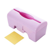 Pu Ran Plastic Solid Colour Wall-mounted Garbage Bag Storage Box Container - Pink