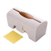 Pu Ran Plastic Solid Colour Wall-mounted Garbage Bag Storage Box Container - Beige