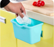ducomi® mangiavanzi Kitchen Bin for Door - Hanging Box Collects Rubbish And Scrap from your plan of Work Light Blue