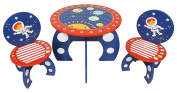 Kidsaw Explorer Table and Chair, Wood, Blue, 50 x 50 x 41 cm