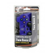 PS2 Wired Hydra Twin Shock 2 Controller for Sony Playstation 2 Blue