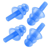 Unique BargainsWater Sports Swimming Silicone Protector Earplugs Blue 4 Pcs