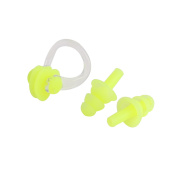 Water Diving Sports Silicone Nose Clip Earplugs Swimming Protector Set w Case