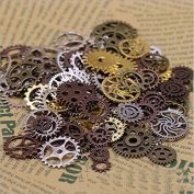 RICISUNG Steampunk Gears Charms Jewellery Making Findings Pack of 100g