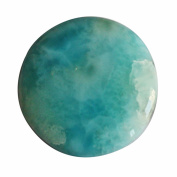 28 Cts Gorgeous Caribbean Sea Larimar Round Pendant Cabochon,Dolphin Stone Craft Supplies AG-6168