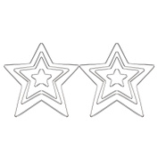 8 Pieces Silver Pentagonal Star Metal Craft Hoops for Dream Catcher, 4 Sizes