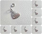 Sterling Silver 925 Filigree Heart Design Pendant Charm ~ 21mm Small