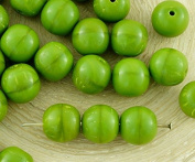 20pcs Opaque Olivine Olive Green Round Druk Spacer Seed Czech Glass Beads 8mm