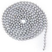 Kingwin 2.4mm Stainless Steel Ball Beaded Chains DIY Accessories - Silver