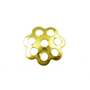 100 x Gold Tone End Bead Caps Jewellery Making Findings - 6mm - L01215 *