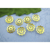 100 x Gold Plated Flower Bead Caps Jewellery Craft Findings - 4mm - L00875