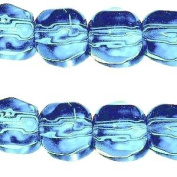 50 x 10mm Faceted crystal glass beads - Aqua - A3861 / 50 beads