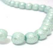 200 Pcs 4mm Textured Glass Pearl Beads - moon effect surface - KB0729 / 4mm Baby Blue