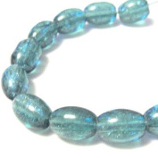 70 Pcs / 32 inch 8x11mm Oval Crackle Glass Beads - Sea Green - A2242