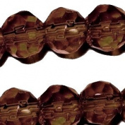 100 pieces 6mm Faceted Crystal Glass Beads - Topaz Brown - A3517