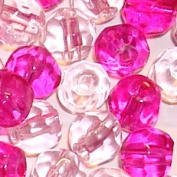 200 pieces 4mm Faceted Crystal Glass Beads - Pink Mix - A3423