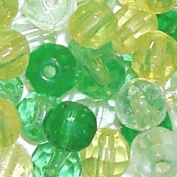 200 pieces 4mm Faceted Crystal Glass Beads - Green Mix - A3424