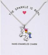 Vasyle New glaze unicorn horse animal alloy clavicle pendant necklace