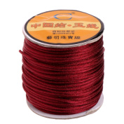 SLYlive Chinese Knot Braided Cord, Nylon Bracelets Necklaces Macrame Rattail Satin Thread