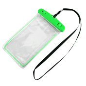 Outdoor PVC Underwater Water Resistant Phone Protector Pouch Dry Bag Green