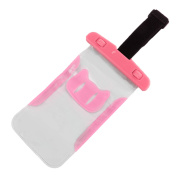PVC Water Resistant Protector Case Bag Dry Pouch Holder Container w Armband Pink