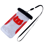 PVC Water Resistant Protector Case Bag Dry Pouch Holder Container w Armband Red