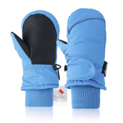 Ski Mittens,Fazitrip Girls/Boys Windproof Waterproof Winter Gloves with 3M Thinsulate Insulation,Idea for Winter Sports