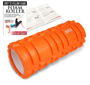 ResultSport® Foam Roller with Exercise Book for Deep Tissue Muscle Massage - Trigger Point Back Massage, Lightweight, Grid Designed, Yoga Exercise, Physical Therapy, Myofascial Release, Pain Relief. For Runner, Cyclist Athlete