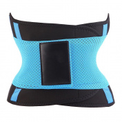 LIFESHOP High Compression Unisex Extreme Workout Modifiable Slimming Waist Cincher Belt, Blue, X-Large
