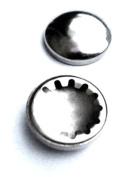Metallic Round End Caps
