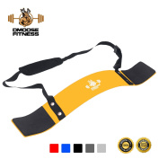Arm Curl Blaster by DMoose Fitness – Thick Gauge Aluminium, Robust Rivets, Contoured & Adjustable – Improve Definition & Muscle Strength In Your Arms – Premium Grade Bodybuilding Bicep Bomber Isolator