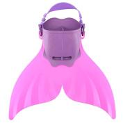 Estink Mermaid Swim Fin,Adjustable Swimmable Mermaid Tail for boys 1-6T, girls 2-8T kids ,Pink