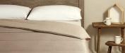 Velfont Duvet Reversible Stripes Saten Beige 250 Grammes for Double Bed, 240 x 270 cm