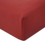 Garnier-Thiebaut, Cotton, Fitted Sheet, 180 x 200 cm Ruby