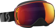 Lcg Sno-x Goggle Black/red W/illuminator Blue Lenses Sx Black Red Chrome Lens