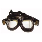 "Em50100 Emgo Baron ""Classic Split Lens"" Anti-Fog Goggles - Black Vinyl"