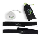 Gravity Fitness Lifting Wrist Straps + Free Chalk Ball, Neoprene Padded Straps with Premium Quality Polyester Webbing, Travel Bag
