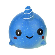 HUHU833 12cm Exquisite Fun Big Whale Scented Squishy Charm Slow Rising Simulation Toy